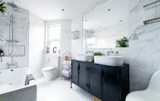Elegant white bathroom (5 Essential Bathroom Remodeling Tips)